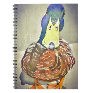Charming Duck Spiral Notebook