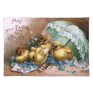 Charming Easter Chicks Placemat