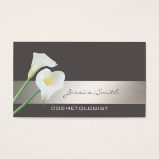 Charming elegant chic luxury romantic calla lily business card