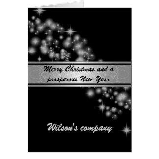Charming elegant sparkles corporate calendar 2018 card