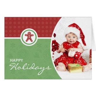 Charming Folded Photo Christmas Card