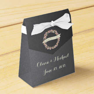 Charming Garden Floral Wreath II Favor Box