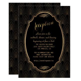 Charming Great Gatsby Art Deco Wedding Reception Card