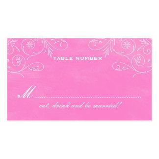 Charming Initials Chalkboard Escort Cards Business Card