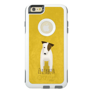 charming jack russell dog with brown face patch OtterBox iPhone 6/6s plus case