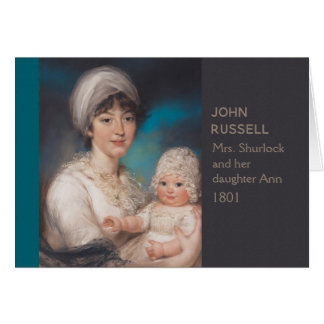 Charming mother baby portrait John Russell CC0972 Card