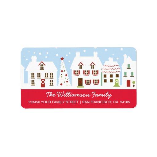 Charming Neighborhood Address Labels (fuchsia)