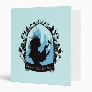 Charming princess stylish silhouette singing bird binder
