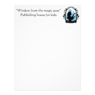 Charming princess stylish silhouette singing bird letterhead template