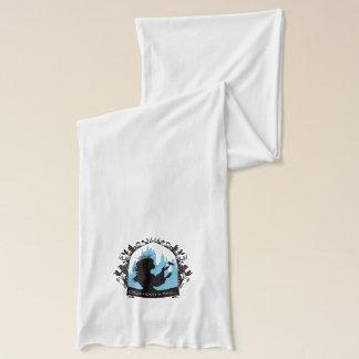 Charming princess stylish silhouette singing bird scarf