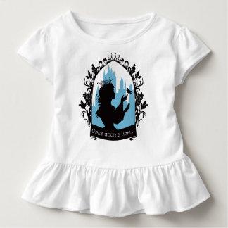 Charming princess stylish silhouette singing bird toddler t-shirt