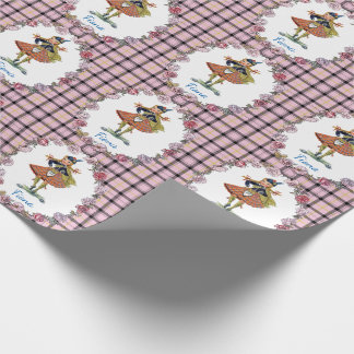 Charming Retro Scottish Doll Wrapping Paper