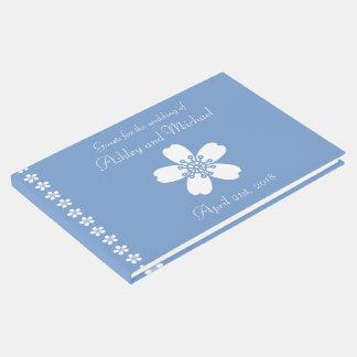 Charming Sakura in Periwinkle Guest Book