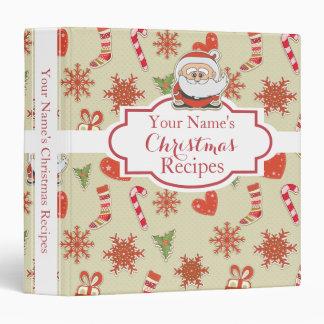 Charming Santa Claus Holiday•Custom 3 Ring Binder
