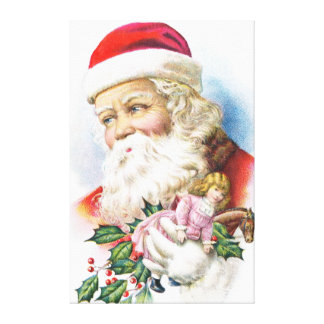 Charming Santa Claus with Toys Gallery Wrap Canvas
