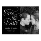 Charming Script Save The Date Card