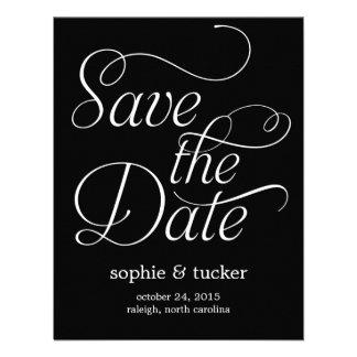 Charming Script Wedding Save The Date Card Custom Invites