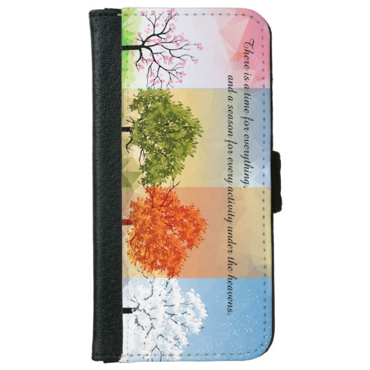 Charming Seasonal Phone Cover iPhone 6 Wallet Case