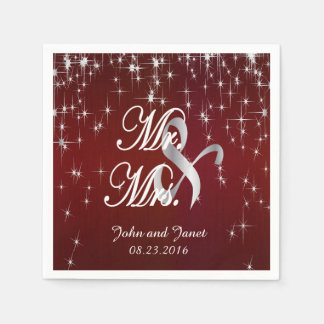 Charming Star Struck Wedding | Burgundy Red Paper Napkin