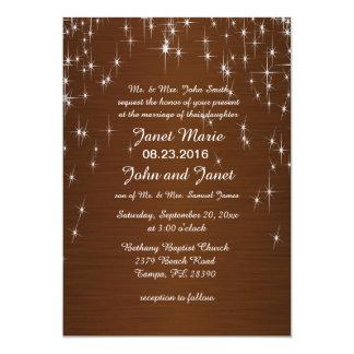 Charming Star Struck Wedding   Chocolate Brown Card