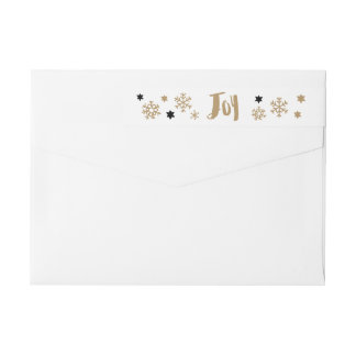Charming Trendy Joy Holiday Wrap Around Label