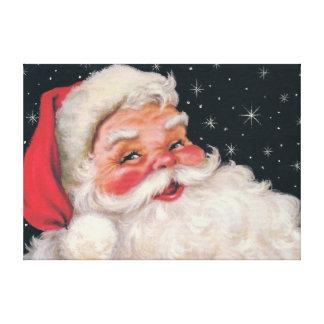 Charming Vintage Santa Claus Gallery Wrap Canvas
