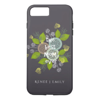 CHARMING WATERCOLOUR FLOWERS FOR MOM  MONOGRAM iPhone 7 PLUS CASE