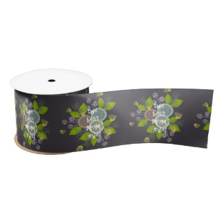 CHARMING WATERCOLOUR FLOWERS FOR MOM SATIN RIBBON