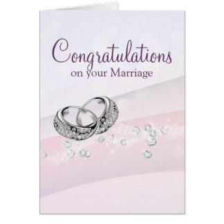 Charming Wedding Rings Card