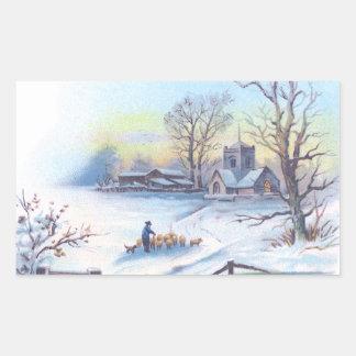 Charming Winter Scene 2 Sticker