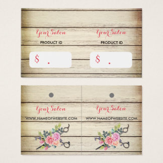 Charming Wood Scissors and Roses Hang Tags
