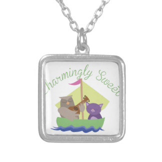 Charmingly Sweet Silver Plated Necklace
