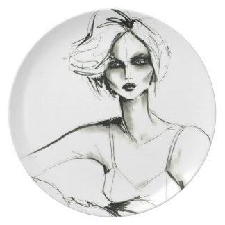 charocal girl 1 plate
