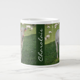 Charolais calf photo portrait large coffee mug