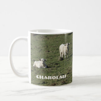 Charolais cow and calves mug