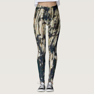 Charred and Scarred Stripe Texture Leggings
