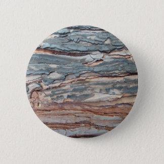 Charred Pine Bark 2 Inch Round Button