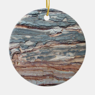 Charred Pine Bark Ceramic Ornament