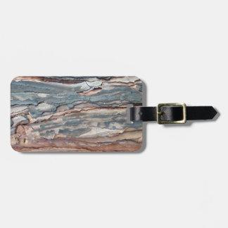 Charred Pine Bark Luggage Tag