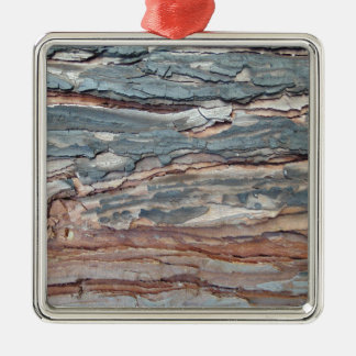 Charred Pine Bark Metal Ornament