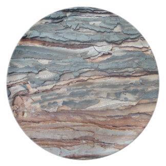 Charred Pine Bark Plate