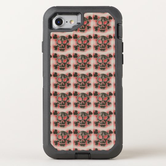 Charred Skull and Crossbones OtterBox Defender iPhone 7 Case