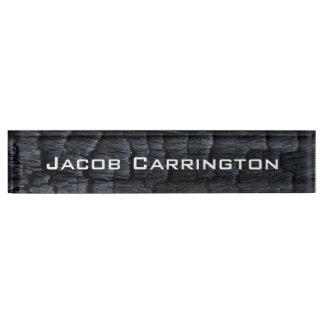 Charred Wood Nameplate