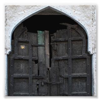Charred Wooden Door Photo Print