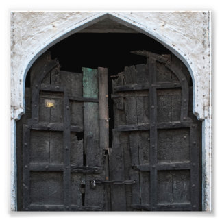 Charred Wooden Door Photographic Print