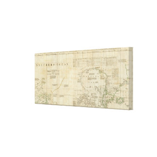 Chart containing part of the Icy Sea Stretched Canvas Print