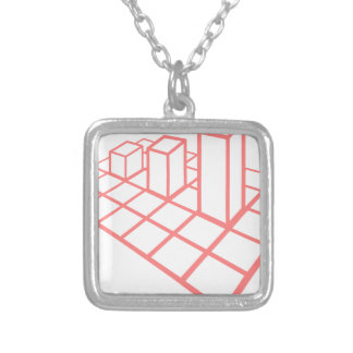 Chart Growth Silver Plated Necklace