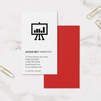 Chart icon business card