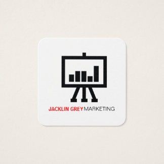 Chart icon square business card
