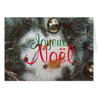 Chart of Merry Christmas Decoration Fir tree Balls Card